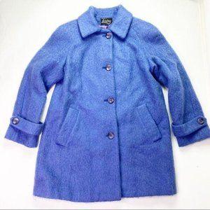 Vintage Loring Purple Mohair Wool Coat Jacket 8